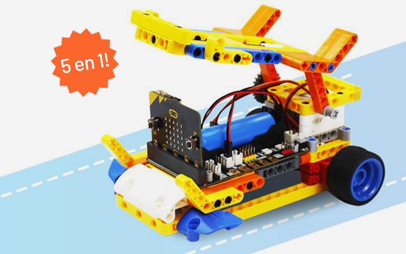 kits de robotica compatibles con lego y microbit